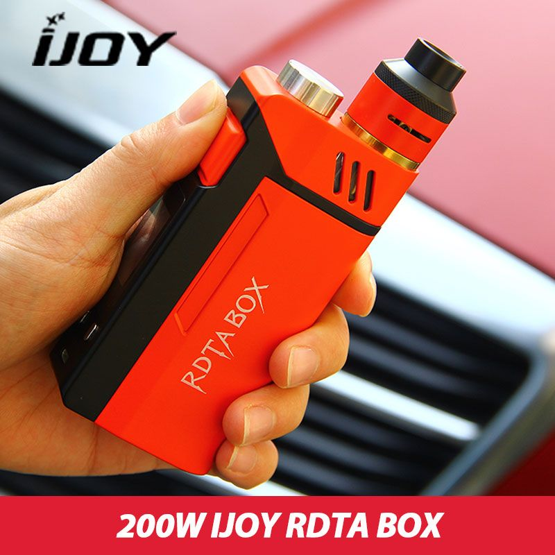 Original IJOY RDTA BOX 200W Kit 12.8ml Capacity Electronic Cig Kit NI/TI/SS with IMC <font><b>Building</b></font> Deck in Stock