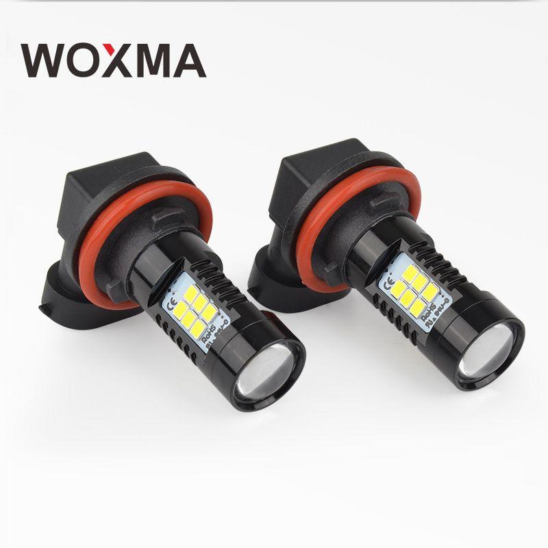WOXMA H11 LED 12 v HB3 HB4 9005 9006 Auto Nebel Licht Lampe DRL Lampe H8 H9 H10 Led für auto styling 21 SMD Chip Tagfahrlicht
