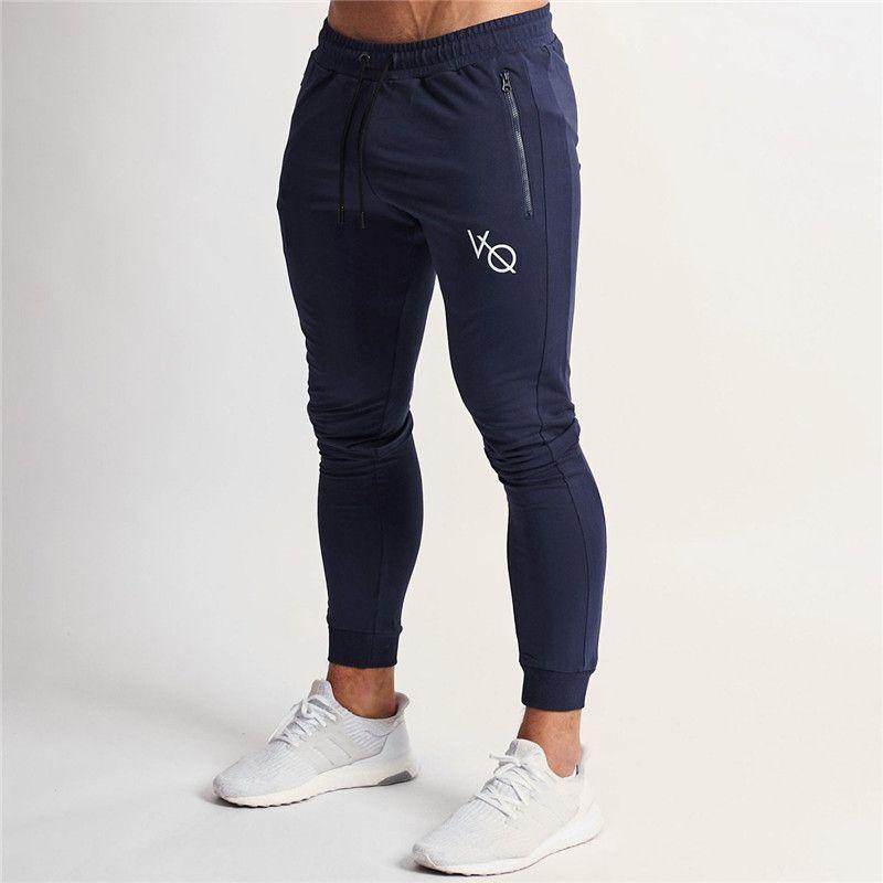Joggers Pants Men 2019 Fashion Fitness Eclipse Blue Tapered Sweatpants Skinny Sportswear Sweatpants Male Casual Leggings Trouser