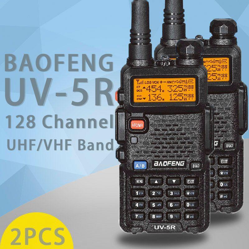 (2 PCS)BaoFeng UV-5R Walkie Talkie Dual Band Two Way Radio Pofung Portable Ham Radio Transceiver Baofeng UV5R Handheld Toky Woky