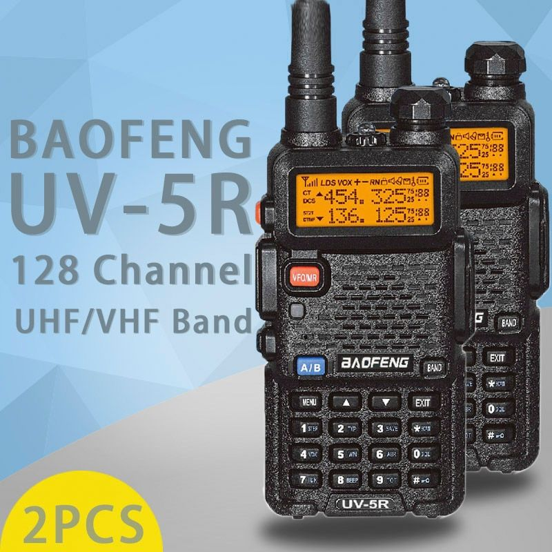 (2 PCS)BaoFeng UV-5R Walkie Talkie Dual Band Two Way Radio Pofung Portable Ham Radio Transceiver Baofeng UV5R Handheld Toky Woky
