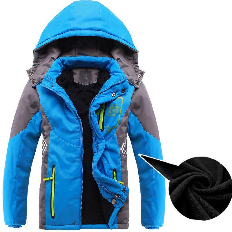 Верхняя одежда для детей теплое пальто спортивная детская одежда двухсторонние водонепроницаемые и ветрозащитные куртки для мальчиков ос...