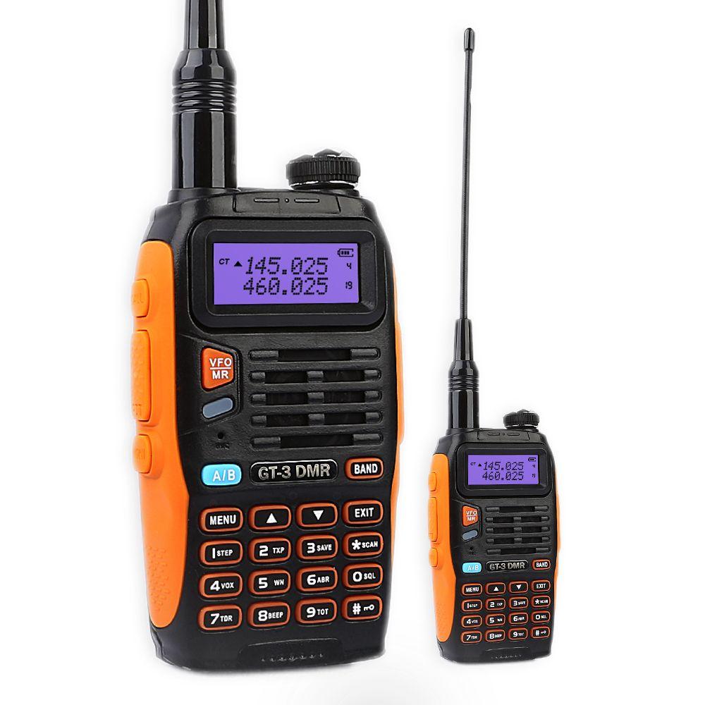 Baofeng GT-3DMR Mark IV Double Bande VHF/UHF Talkie Walkie à Deux Voies Radio Jambon Émetteur-Récepteur avec DMR Fonction Temps fente 1 Répéteur