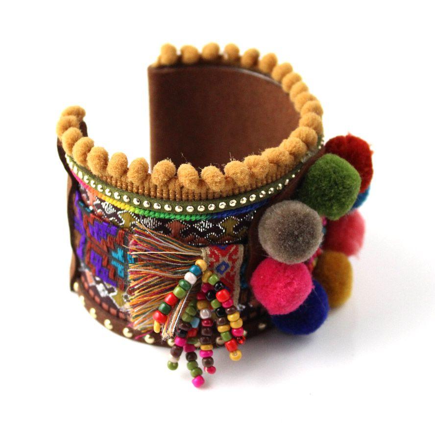 New European Jewelry Suppliers handmade weaving bracelet colorful pop wide bangle bracelet Bohemia for women gypsy