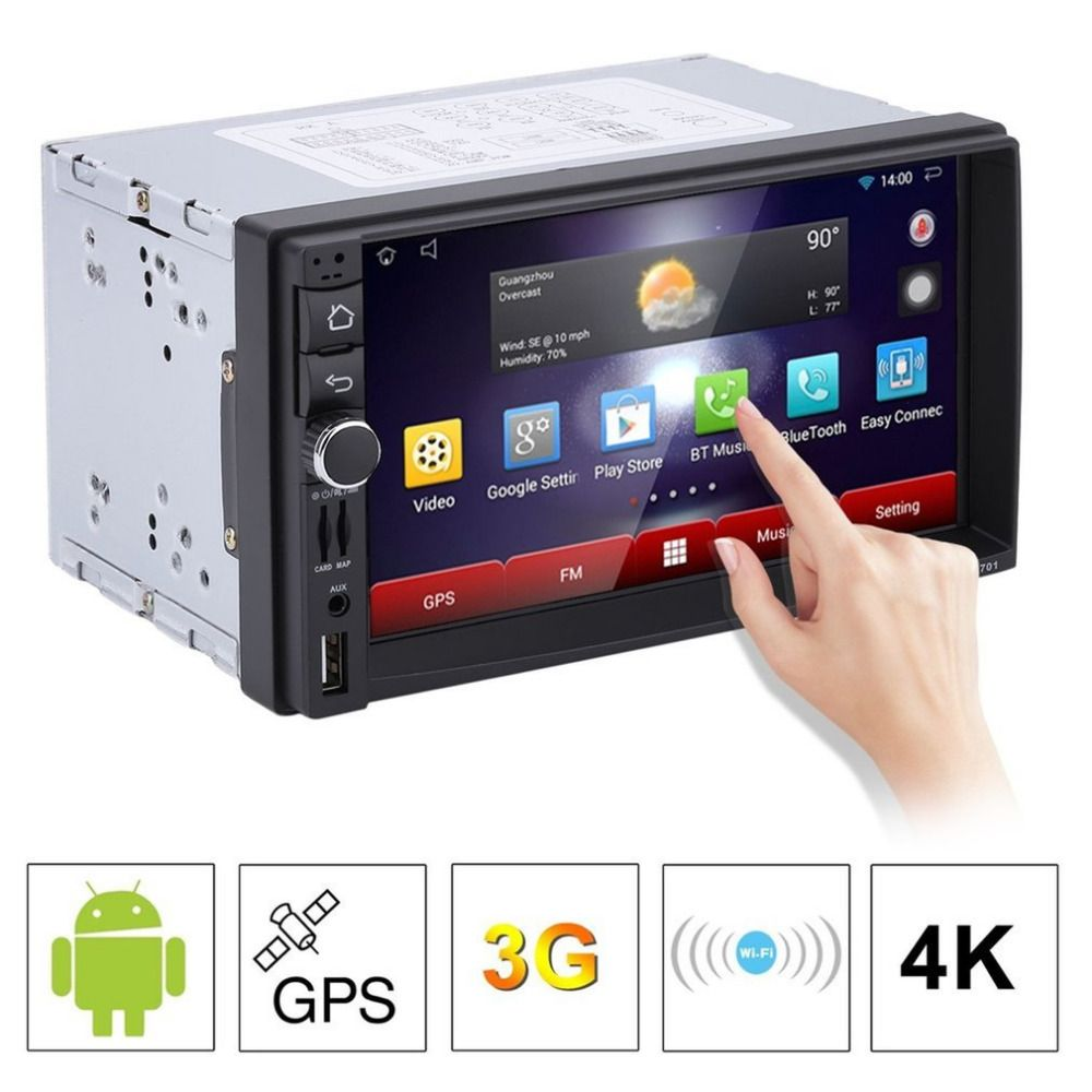Auto DVD GPS-Player 1028*600 Kapazitiven HD Touch Screen Radio Stereo 8g/16g iNAND Hinten ansicht Kamera Parkplatz Android 5.1.1