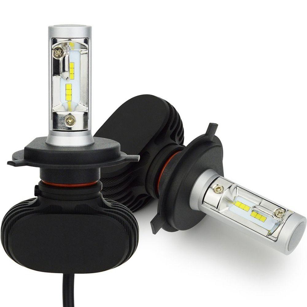 H8 H9 H11 led Car Headlight Bulbs Hi-H4 Lo <font><b>Beam</b></font> H7 9005/HB3 9006/HB4 Conversion Kit 50W 8000lm CSP Chips 6500K Auto Headlamp