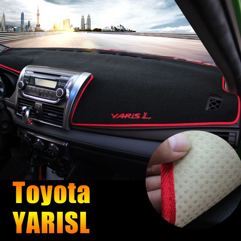 Car dashboard Avoid light pad Instrument platform desk cover Mats Carpets LHD For Toyota YARIS L 2014 2015 Accessories