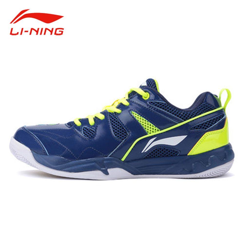Li-Ning Men Professional Badminton Shoes Anti-Slip Support Training Sneakers Original LI NING Breathable Sports Shoes AYTM069