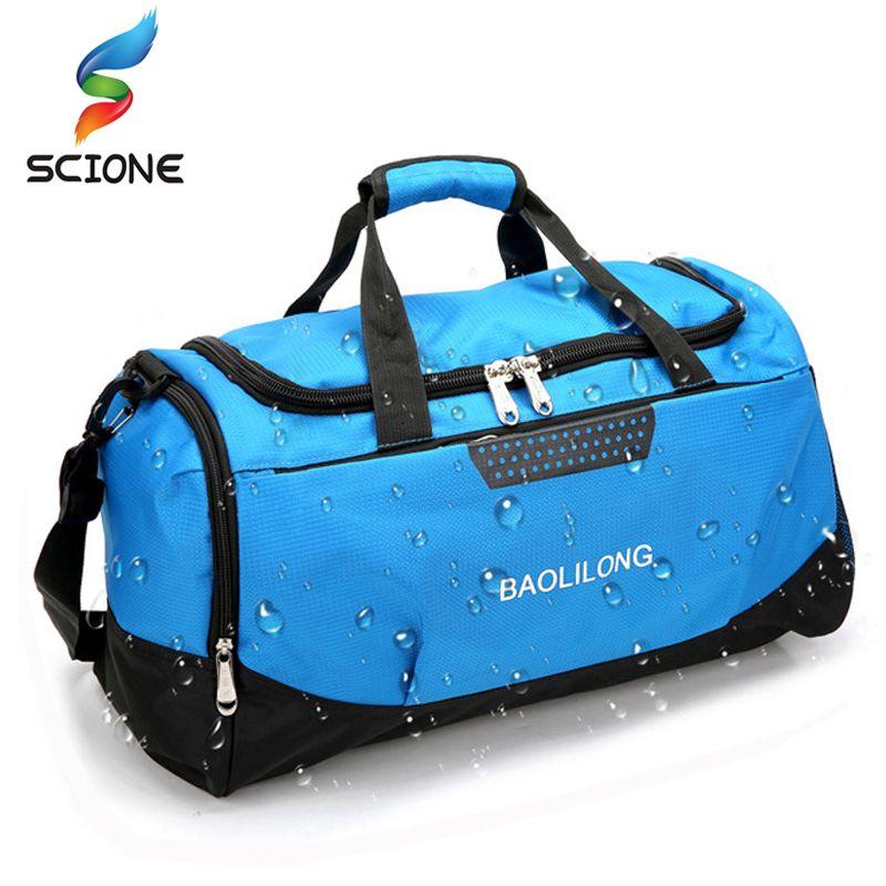 Профессиональный большая спортивная сумка Водонепроницаемый спортивную сумку полиэстер Для мужчин/Для женщин большой Ёмкость Packable Duffle сп...