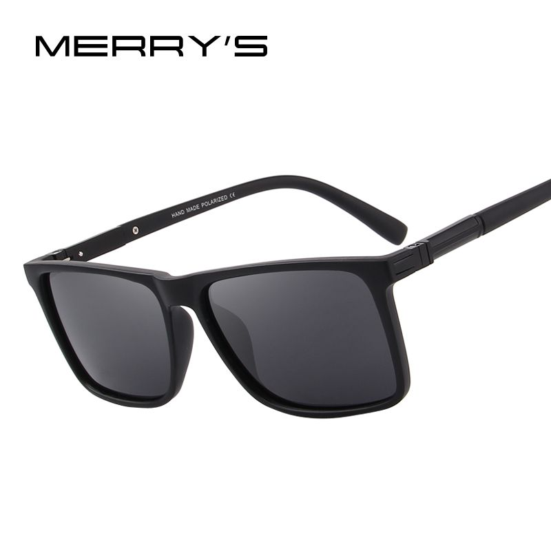 MERRY'S DESIGN Men Polarized Rectangle Sunglasses 100% UV Protection S'8296