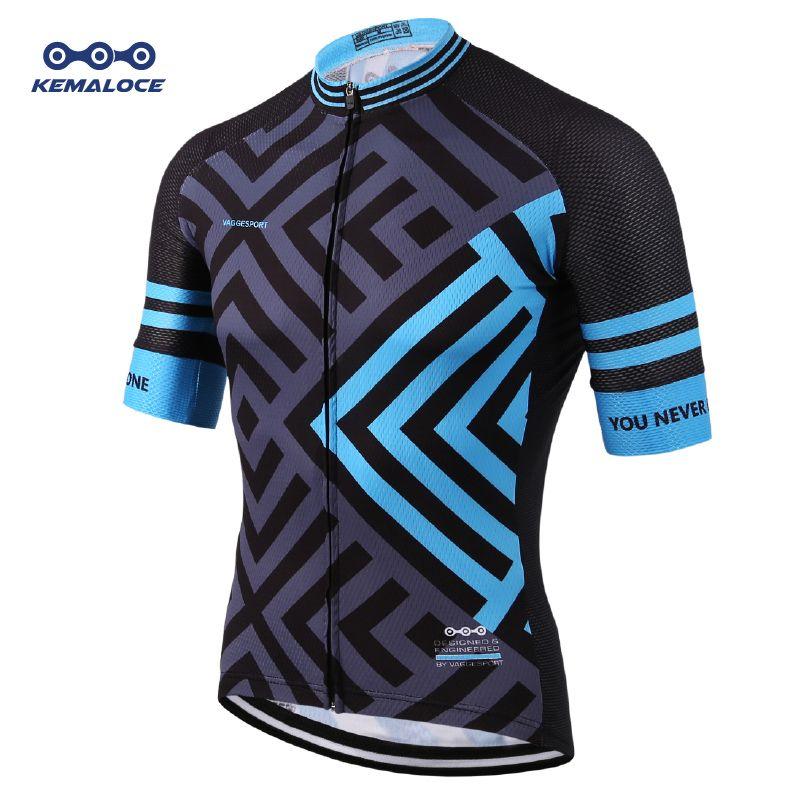 Le dernier maillot de cyclisme européen à Sublimation complète respirant bleu confortable vêtements de vélo de route personnalisé chine chemises de cyclisme Top