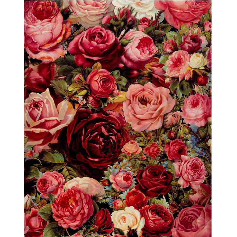 Rose peinture à l'huile par numéros bricolage peinture numérique peinture acrylique par numéros 40X50 cm fleurs photos mur art sans cadre GX7524