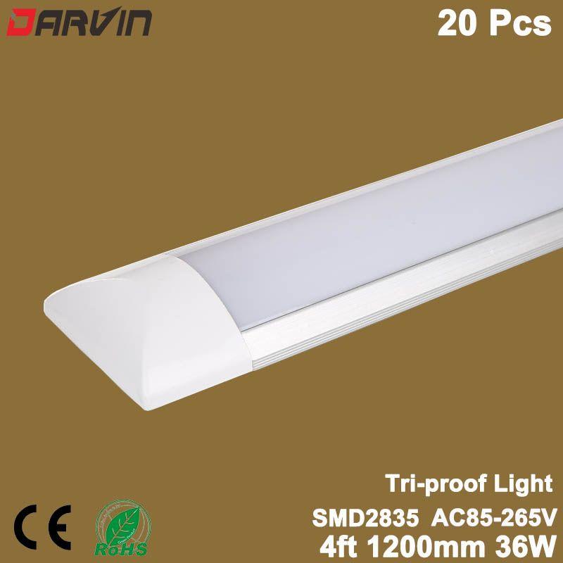 Led Linear Licht Tri-proof Reinigen Reinigung Leuchtstoffröhre 4ft 36W 1200mm Led Flache Latte Licht Led rohr Licht Lampe