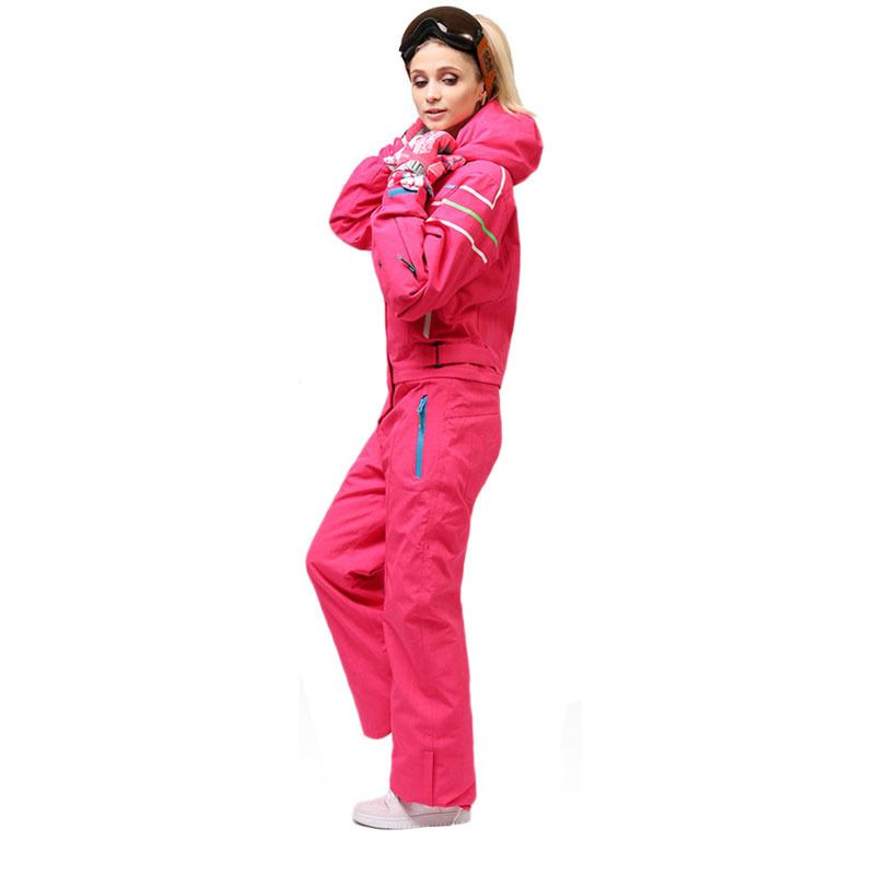 Winter outdoor new ladies snowboard suit windproof quick-drying warm jumpsuit ladies alpine skiing mountaineering sportswear