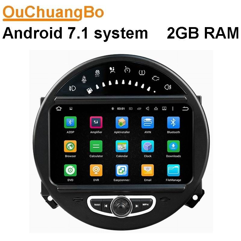 Android 7.1  Car navigation stereo radio for Mini cooper 2006-2013 with MP3 bluetooth French gps navigation 2GB RAM