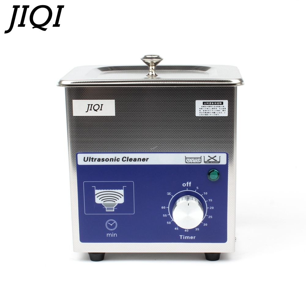 JIQI Ultrasonic cleaner timer 80w 0.7L 40KHZ for Household glasses jewelry Dental Watch Toothbrushes Cleaning Tool Small