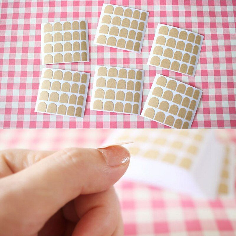 2017 10pcs Fashion easy to use stickers double-sided stickers False nails glue Tape Clear