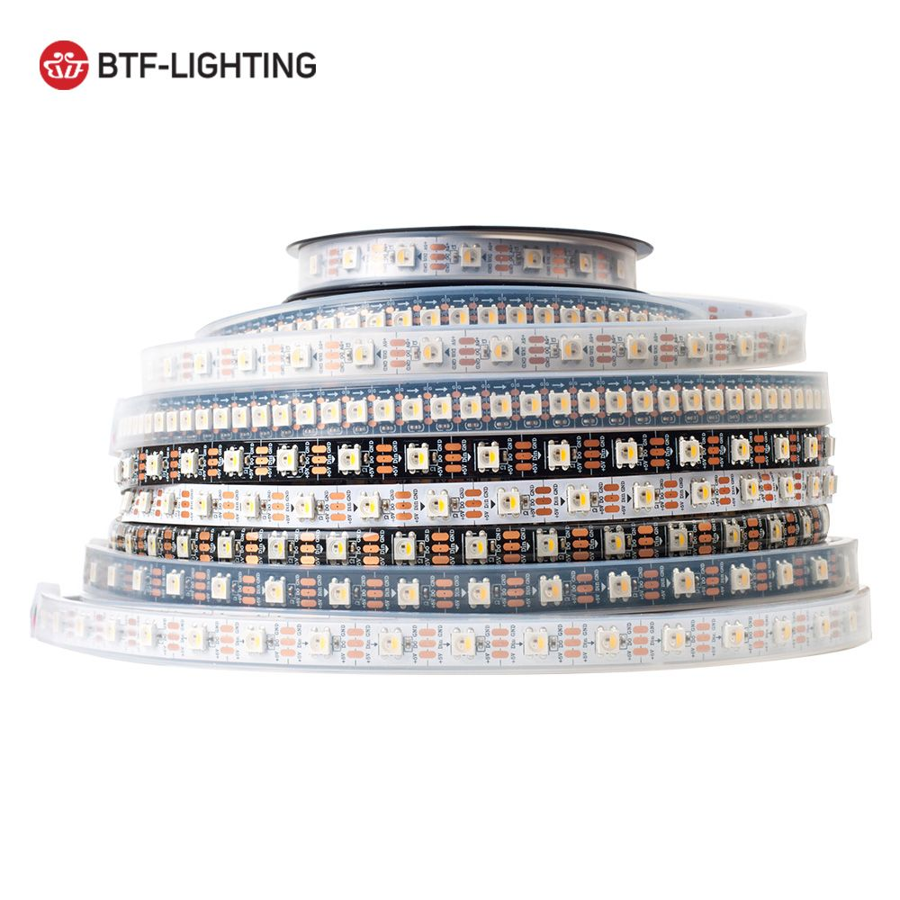 SK6812 RGBW (similar ws2812b) 4 in 1 1m/4m/5m 30/60/144 leds/pixels/m;individual addressable led strip IP30/IP65/IP67 DC5V