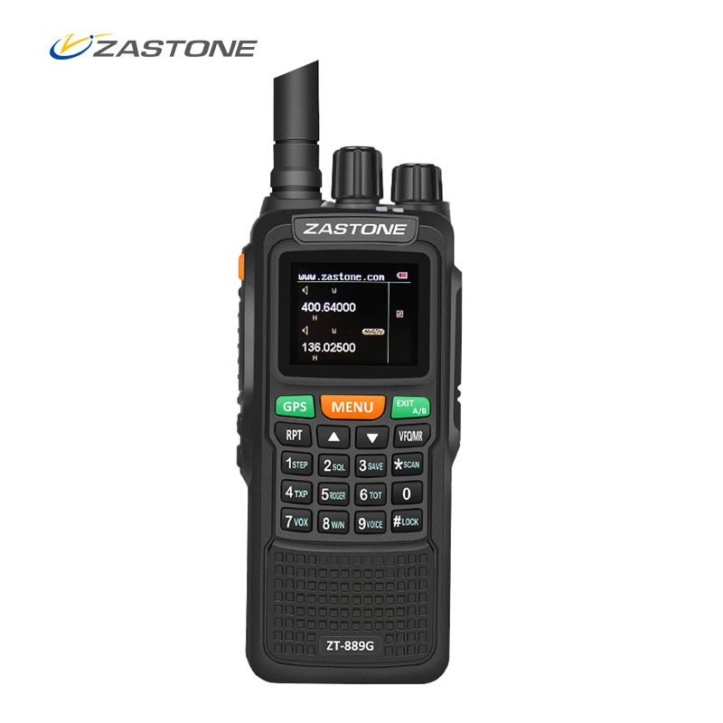 Zastone 889G GPS Walkie Talkie 10W 999CH 3000mAh UHF 400-520 / VHF134-174MHz Ham CB Radio HF Transceiver for Explore Hunting