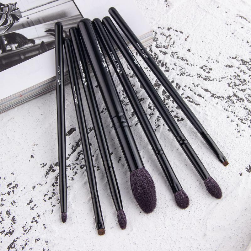 Anmor Haute Qualité 7 PCS Pinceau de Maquillage Professionnel Pinceaux De Maquillage De Chèvre Cheveux Brochas Maquillaje BK-142