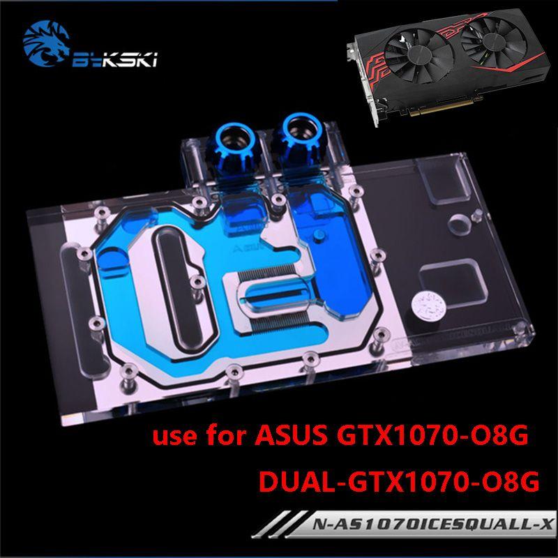 BYKSKI Wasser Block verwenden für ASUS GTX1070-O8G-SI/GAMING/GTX 1060 Dual RGB Licht/Volle Abdeckung Grafikkarte kupfer Kühler Block