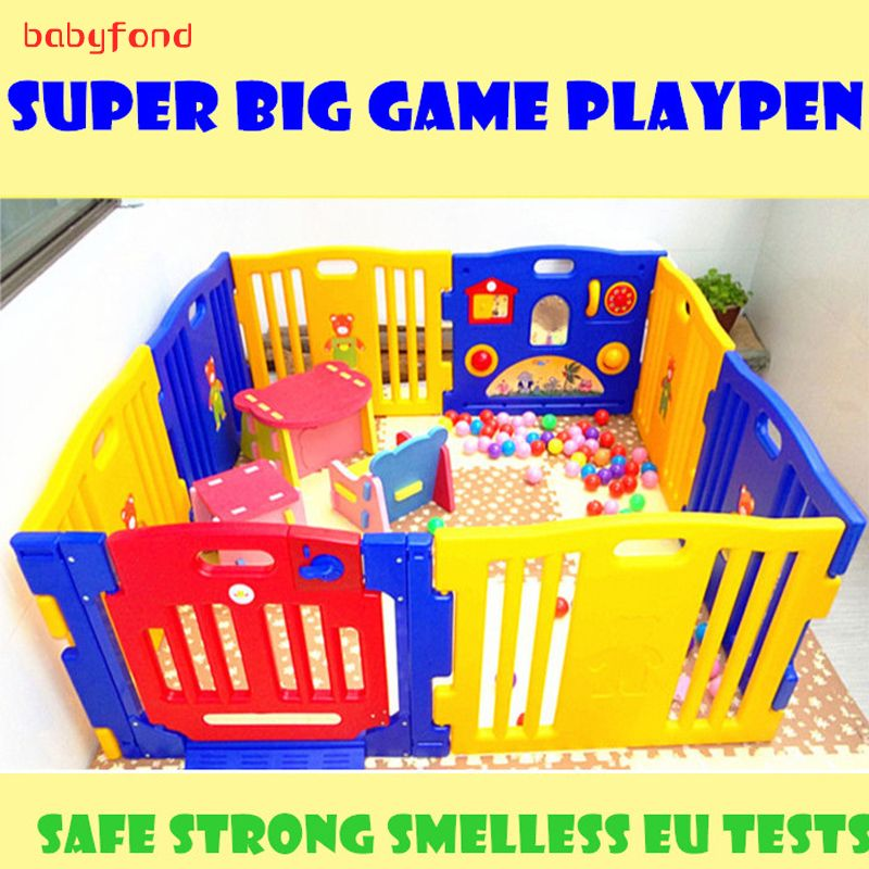 No smell Export Baby Game Playpen colorful Strong Game Fence l Baby Toy Fences 10+2 pcs baby play mat garden 530cm
