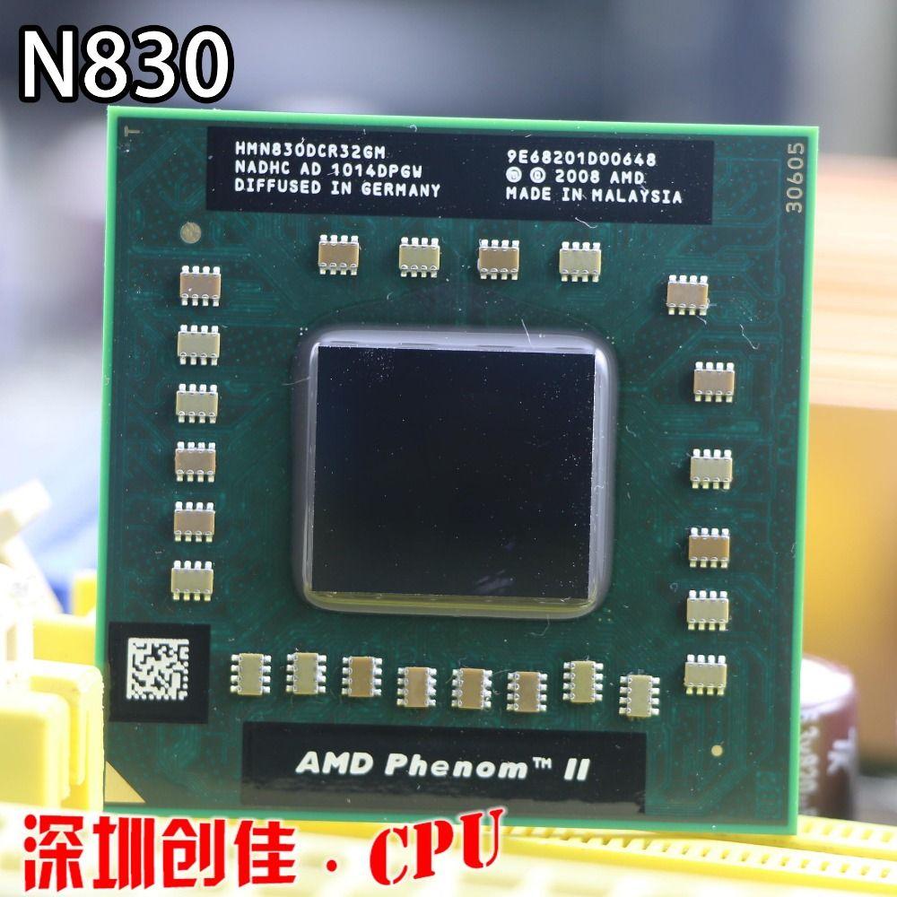 Original AMD phenom N830 CPU HMN830DCR32GM Socket S1 (S1g4) 2.1G processor for laptop notebook triple core