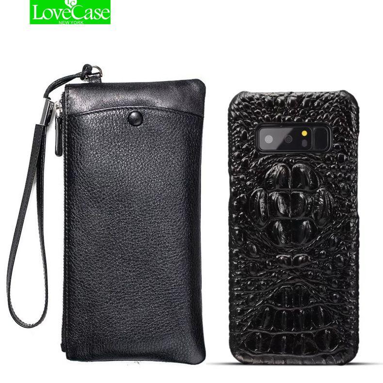 LoveCase Echt Leder Brieftasche + Rückseitige Abdeckung Für samsung galaxy note 8 Luxus Echtes Leder Zurück Abdeckung Für galaxy note8 tasche