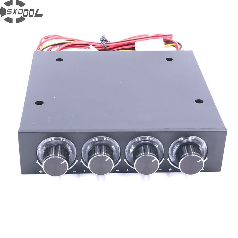 SXDOOL STW-6002 4 Channel Speed Fan Controller with Blue LED  Controller and CPU HDD VGA