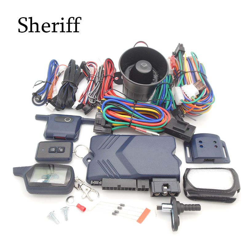 Russia version A91Two-way car alarm system with remote engine start for starline A91 2-way car alarm system A91 free shipping