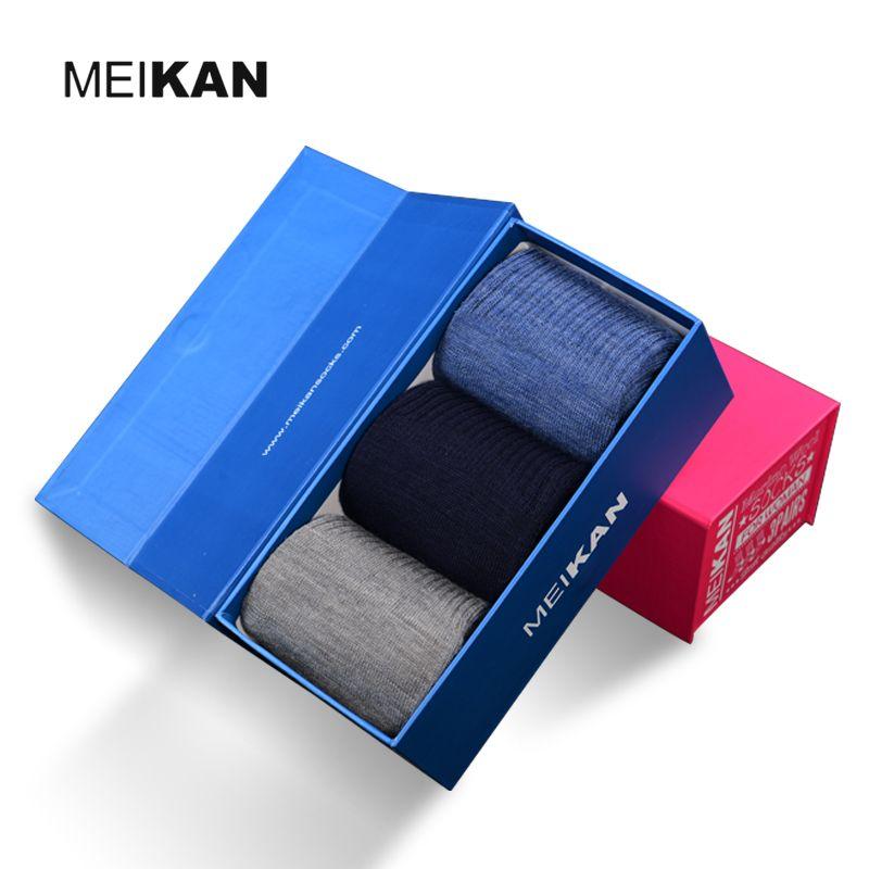 3Pair Merino Wool Socks Men Thermal Sox MEIKAN Christmas Warm Calcetines Navidad Meias Women High Quality Merino Heat Holder