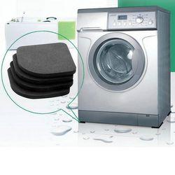 1 Set Multifonctionnel Réfrigérateur Anti-vibration Pad Tapis Pour Machine À Laver Choc Tapis anti-dérapant Tapis Ensemble Salle De Bains accessoires