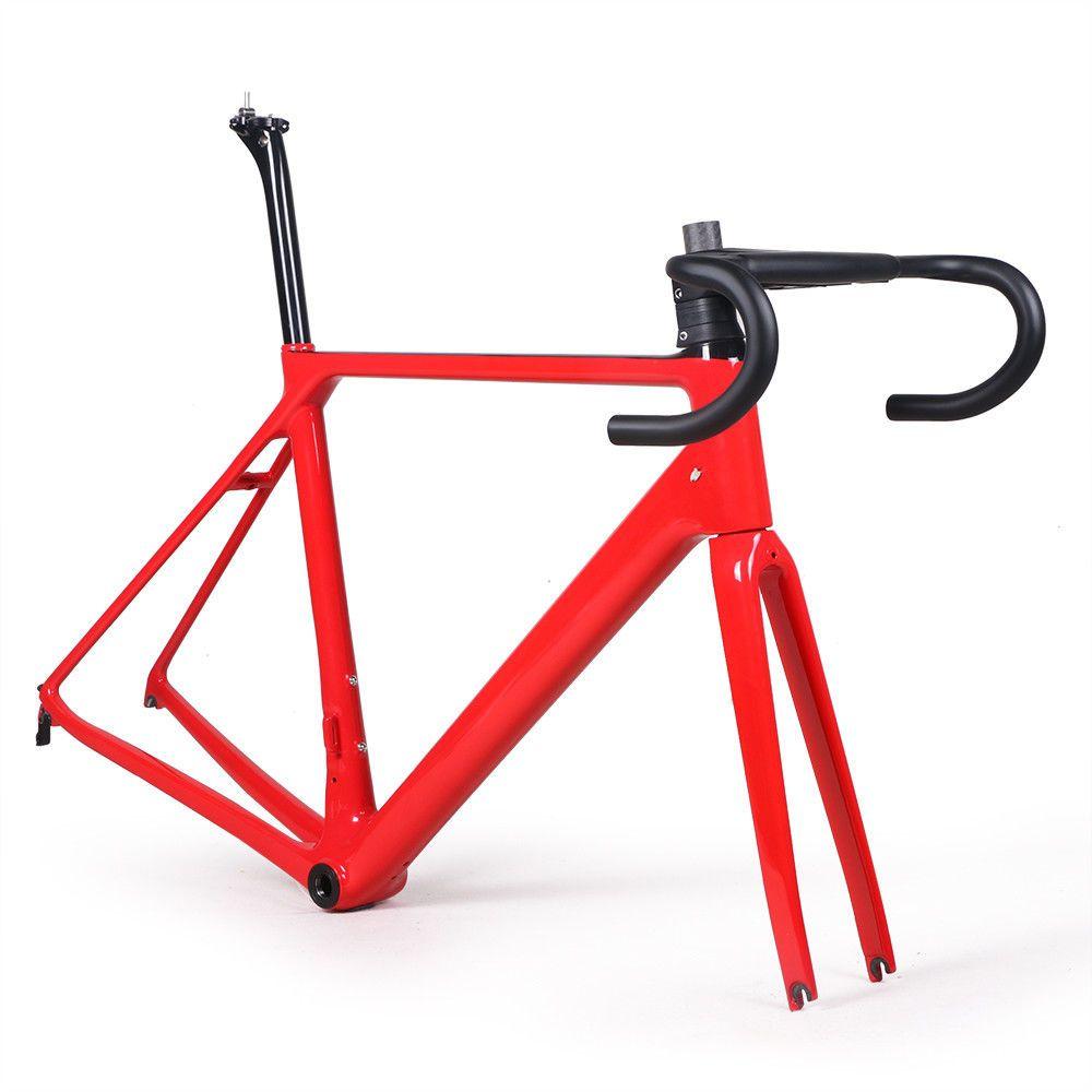 Viele farbe carbon rennrad rahmen gabel klemme sattelstütze Carbonstraßen-fahrradrahmen 880g kostenloser versand