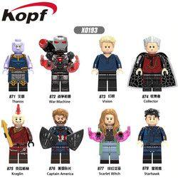 Sale Super Heroes Captain America Thanos Vision Kolektor Scarlet tunggal Penyihir Building Blocks Bricks Anak Hadiah Mainan X0193
