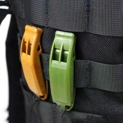 Double-Frequency Whistle Outdoor Survival Lifesaving whistle Safety Camping Emergency Whistle Random Color