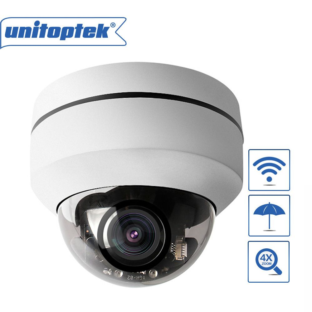 1080P 2MP Mini PTZ Wifi Camera Dome Outdoor Pan Tilt 4X Zoom Camera Onvif Network Wireless P2P Security Cam TF Card Slot