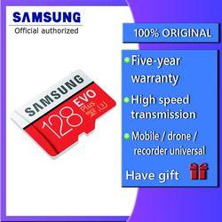 Samsung EVO Plus Micro SD Card 64 GB 32 GB 16 GB 256 GB Class10 Microsdsdxc UHS-I 80 MB/S SDHC kartu TF 64 GB 128 GB + SD Adapter 256G
