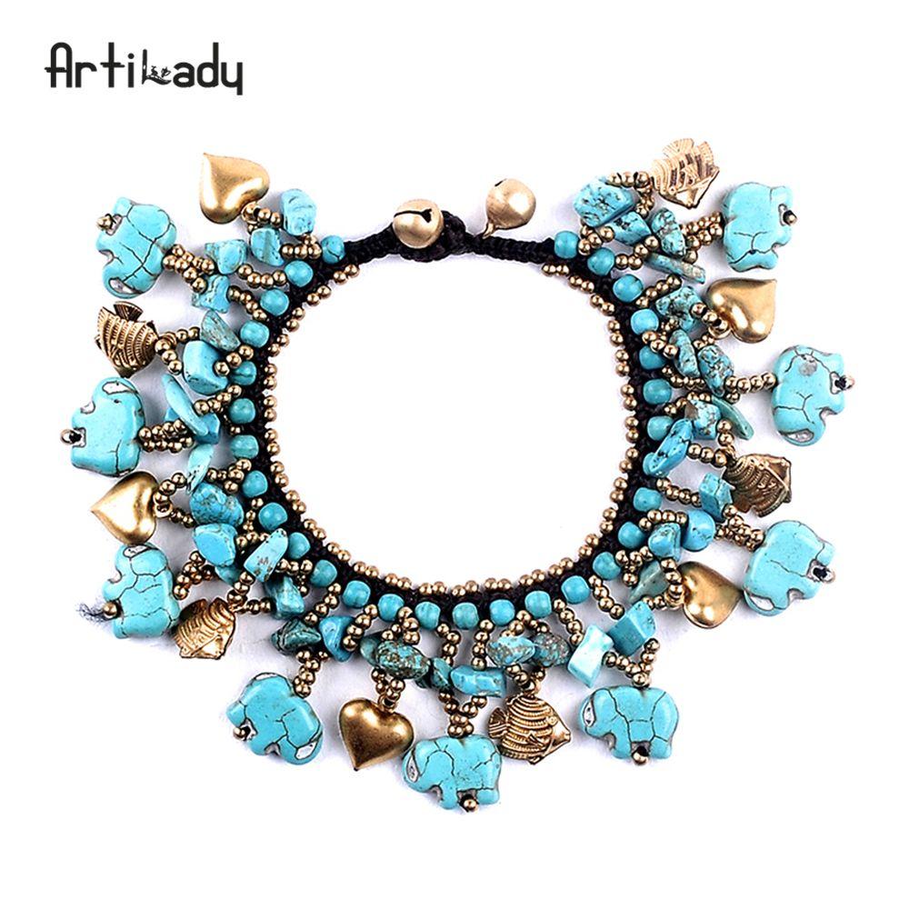Artilady naturel pierre gland bracelet bracelets de mode pierre cloches bracelet pour femmes boho bijoux dropshipping
