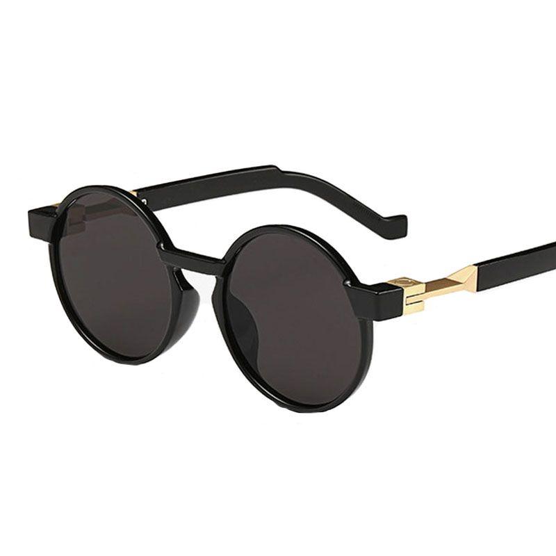 Mode lunettes de soleil homme lunettes de soleil steampunk rétro rond lunettes de soleil lentilles spécial cercle uv400 jambes