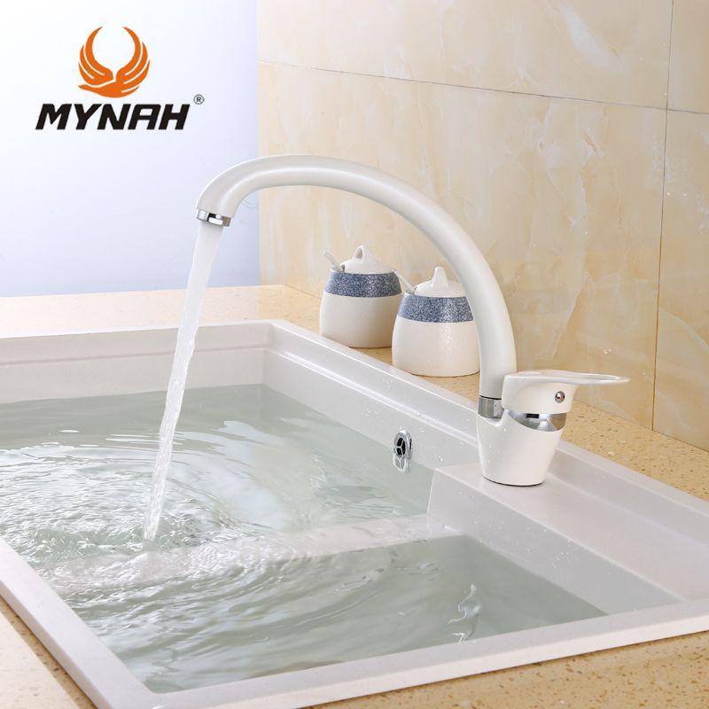 Майна Кухня Смеситель Водопроводной воды один держатель на одно отверстие Кухня Grifo вращения rubinetto cucina смесители
