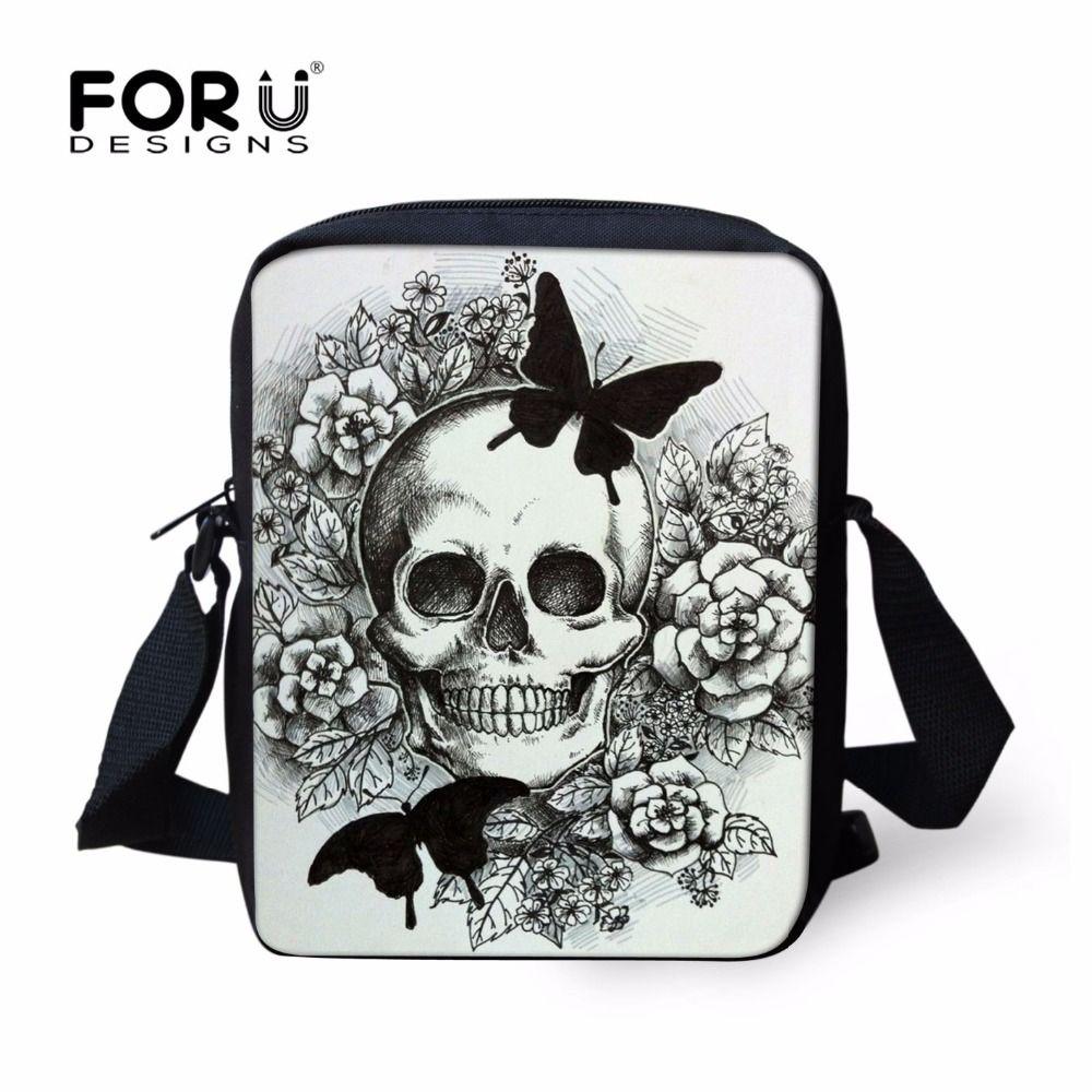 FORUDESIGNS 3D Skull Casual Shoulder Bags For Women Small <font><b>Messenger</b></font> Bag Woman Handbags Mini Cross-body Bag Mini Mochila Infantil