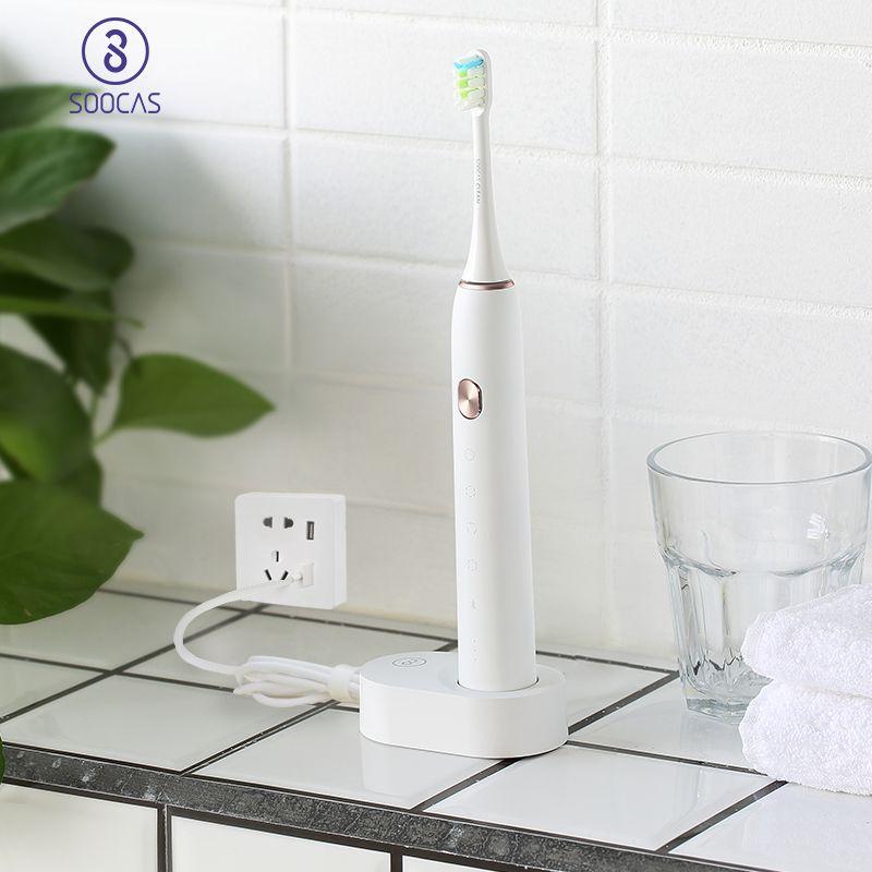 SOOCAS X3 Adulte Brosse À Dents Électrique USB De Charge sonic brosse à dents Bluetooth APP Ultra sonic brosses à dents 4 de nettoyage mode xiaomi