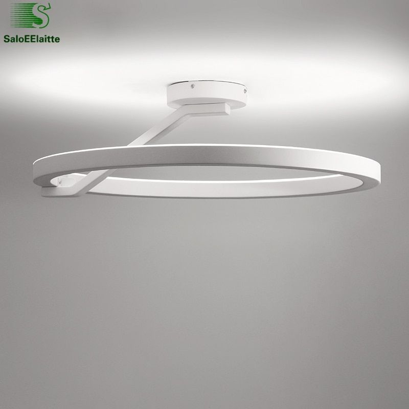 Round Metal Remote Control Dimmable Led Ceiling Lamp Bedroom Lustre Luminaires Minimalism Ceiling Light Indoor Lighting Lamparas