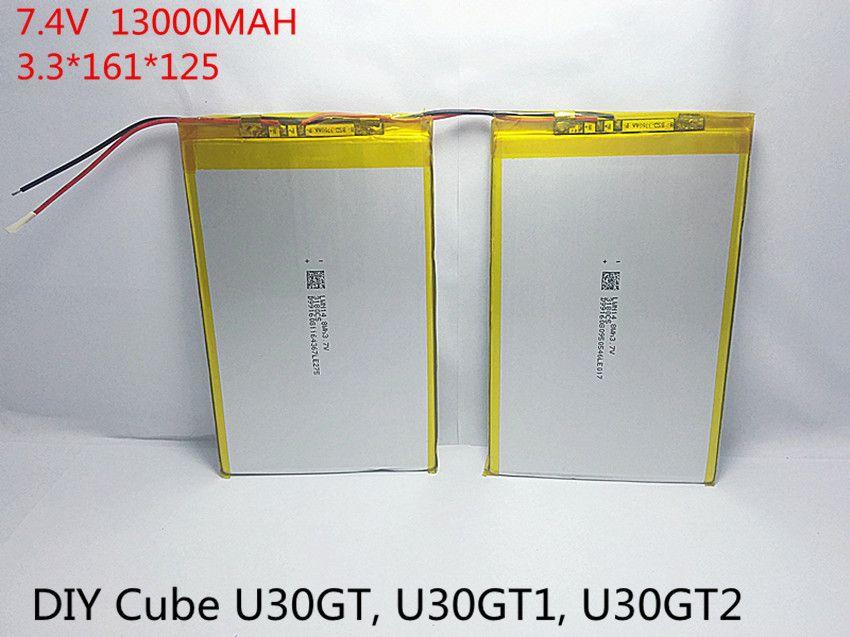 7,4 V 13000 mAh Tabletten Batterien DIY U30GT, U30GT1, U30GT2 dual vier-core tablet pc akku 33161125 Größe: 3,3*161*125mm