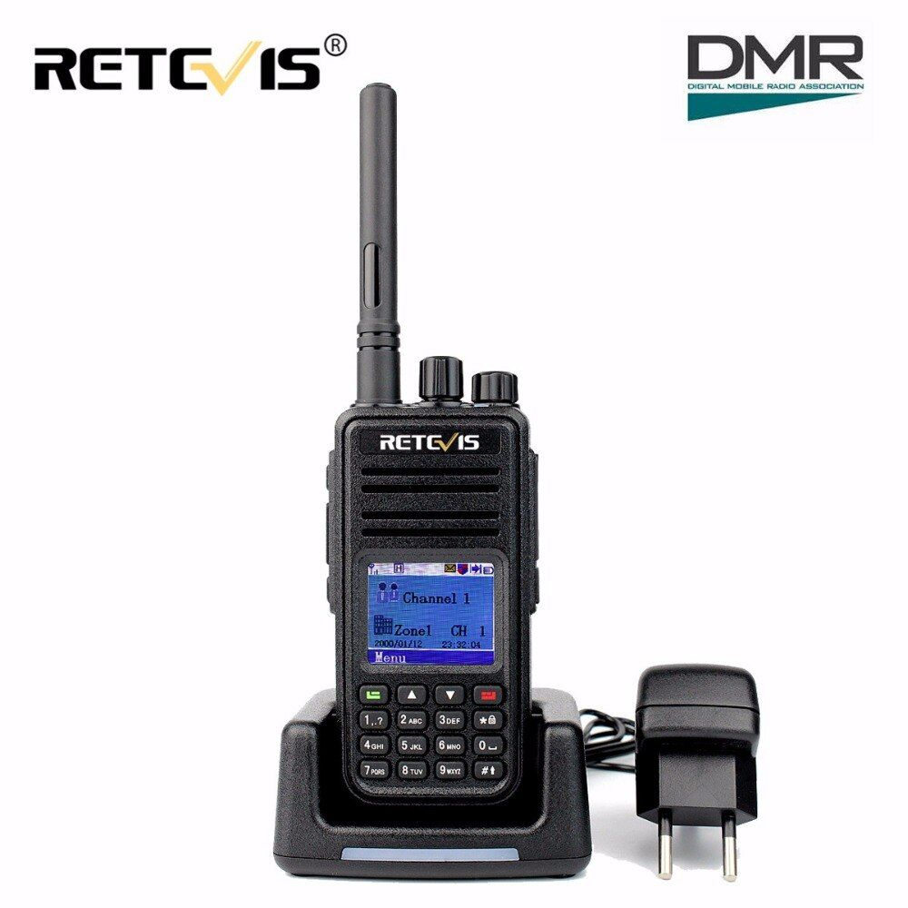 DMR Radio Retevis RT3 Digital Walkie Talkie VHF(UHF) 5W 1000CH Encryption Scan GPS Ham Radio Hf Transceiver Two Way cb Radio RT3