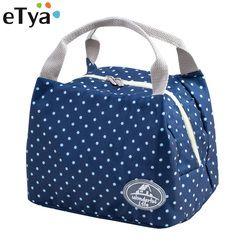 ETya Новый Портативный Термосумка для обедов утепленная снэк-коробка для обеда, для переноски сумка для хранения сумки для пикника сумка для ...