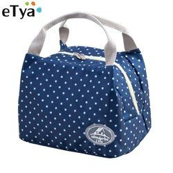 eTya New Portable Lunch Bag Thermal Insulated Snack Lunch Box Carry Tote Travel Picnic Food Storage Bag Pouch For Girl Women Men