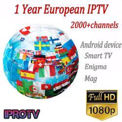 1 année Europe Arabe IPTV Canaux Français/Belguim Morrco/Afrique IPTV abonnement Pour M3U/Enigma2/Mag254/Android TV box pk QHDTV