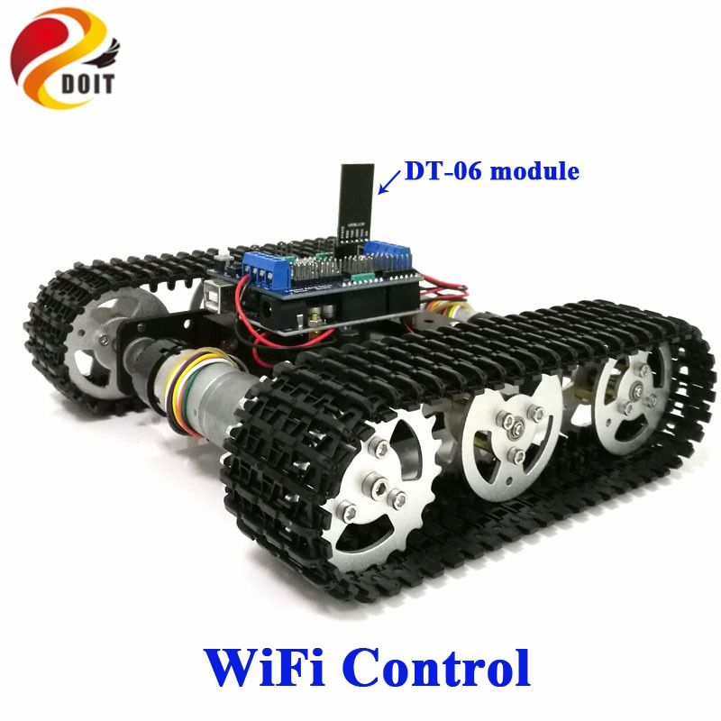 DOIT WiFi contrôle intelligent Tank Car châssis sur chenilles Robot sur chenilles compétition pour Arduino UNO moteur Drive bricolage