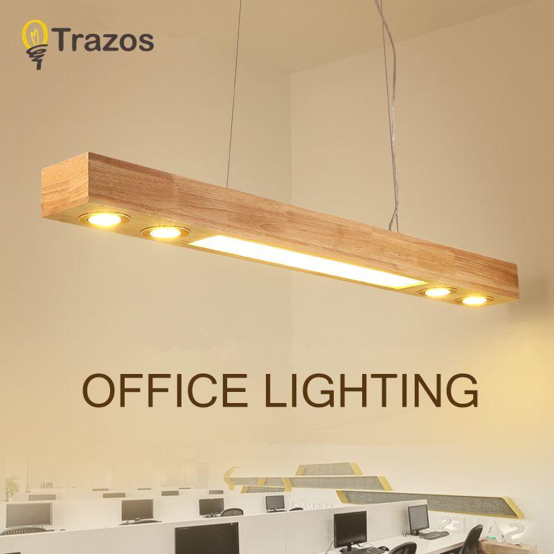 TRAZOS Büro Anhänger Lichter Holz Und Embedded warme weiße lichter Restaurant Bar Kaffee Esszimmer LED Hängen Leuchte